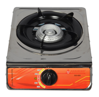 Hanabishi GS-600 Single Burner Gas Stove (Silver)