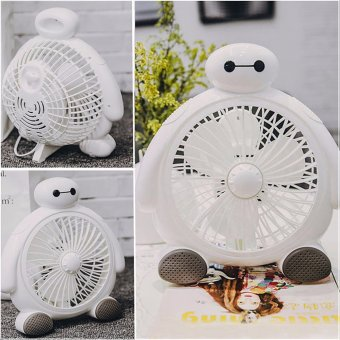 Hand-held air conditioner new edition fan baymax design USB MiniPortable Fan Mute PC USB Cooler mini Desk Fan - intl - 2