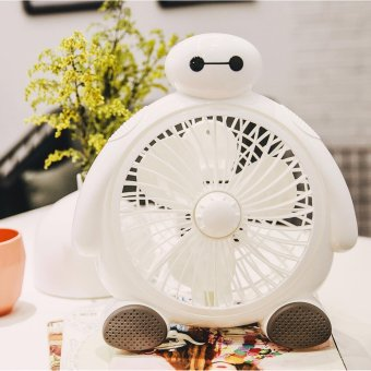 Hand-held air conditioner new edition fan baymax design USB MiniPortable Fan Mute PC USB Cooler mini Desk Fan - intl