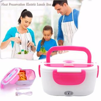 Heat Preservation Electric Lunch Box (Fuchsia Pink) Price Philippines