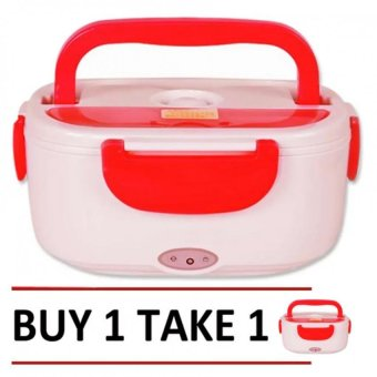 Heat Preservation Electric Lunch Box (Red) Buy 1 Take 1