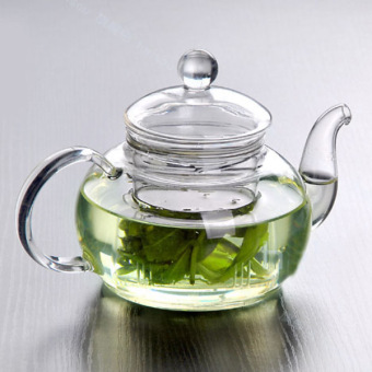 Heat Resistant Bottle Glass Teapot Infuser Coffee Tea Leaf Office 350ML