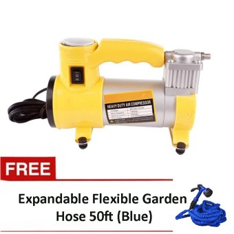 Heavy Duty Air Compressor (Yellow) with FREE Magic Hose 50ft