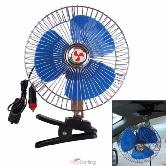 Heavy Duty Portable 8-inch 12V Vehicle Car Oscillating Fan