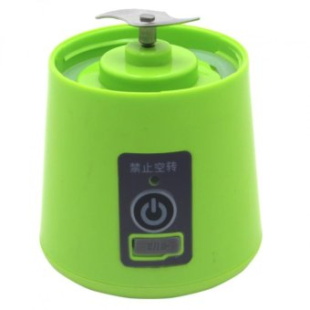 HM-03 Portable and Rechargeable Battery Juice Blender 380ml (Green)with Self Stirring Coffee Mug (Black) - 3