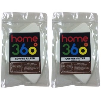 HOME360 Coffee Filter Large 40s Bleached Set of 2