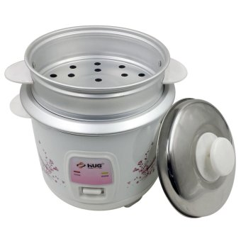HUG 2-in-1 1.0L Rice Cooker w/ Steamer and Free Cup and Spatula