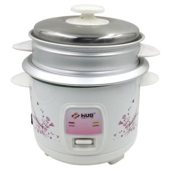 HUG 2-in-1 1.5L Rice Cooker w/ Steamer and Free Cup and Spatula