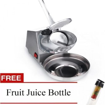 Ice Smashing Electric Crusher Machine (Silver) with Free FruitJuice Bottle