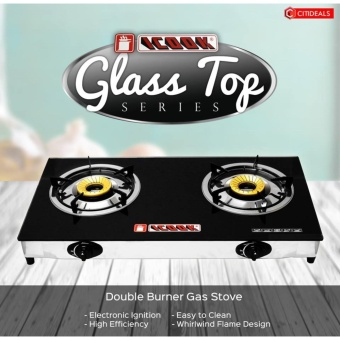 iCook IC-882 Glass Top Gas Stove Double Burner