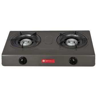 Harga SHOP AND THRIFT Micromatic MGS-650 Double Burner Gas Stove (Grey)