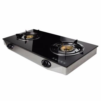 Harga Asahi GS-887 LPG Auto Burner Tempered Glass Gas Stove 2