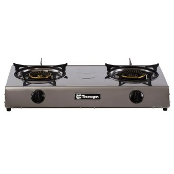 Harga Tecnogas GS-200BCSS Stainless Steel Tabletop Double Gas Burner