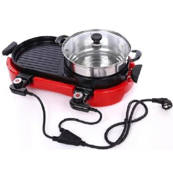 Harga MEI MEI Multi-function Electric Hotplate Grill (Red)