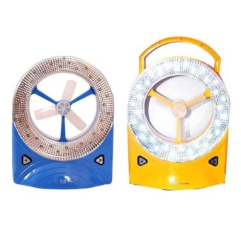 Rechargeable LED Light with Fan, Set of 2 (Blue/Yellow) Price Philippines