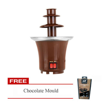 Harga Mini Chocolate Fountain with FREE Chocolate Mould (design may vary)