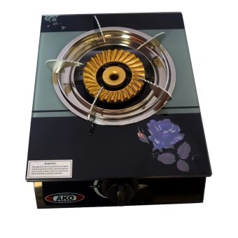 AKO L-D6 Glass Gas Stove Single Burner (Black) Price Philippines