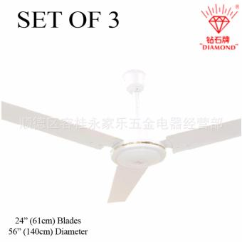 "Diamond 56"" Leaf Green Ceiling Fan (White) SET OF 3 Price Philippines"
