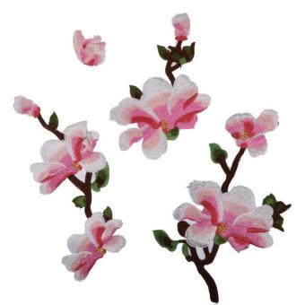BolehDeals 4x Embroidery Magnolia Flower Patch Sewing Cheongsam Applique Craft Pink - intl Price Philippines
