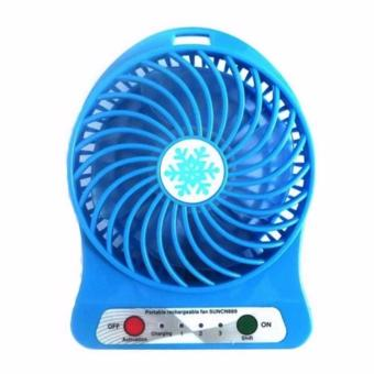 Harga LOVE&HOME 3-Speed Mini Portable Rechargeable Fan (Blue)