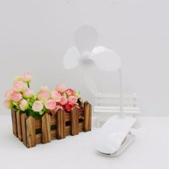 Mini Fan USB Charging Portable Mute Can Be Adjusted Fan Built-in Battery Rechargeable(WHITE) SEPTWOLVES 0121613 Price Philippines