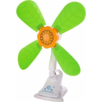 Harga New High Power Portable Mini Cooling Cooler Clip Fan (Green)