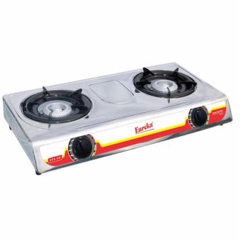 Harga SHOP AND THRIFT Eureka EGS-DB Double Burner Gas Stove (Silver)