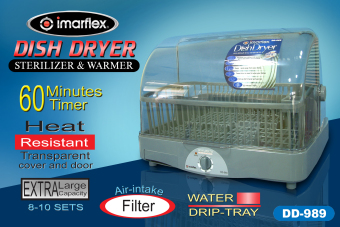 Imarflex DD-989 Cyclone Sterilizer and Warmer Dish Dryer - 2