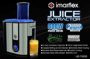 Imarflex IJE-7000S Electric Juice Extractor 1L (Stainless) - 2