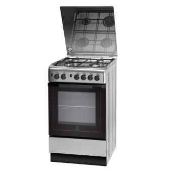 Indesit I5GG1G X EX Cooker 4 Gas Burners with Gas Oven and Grill