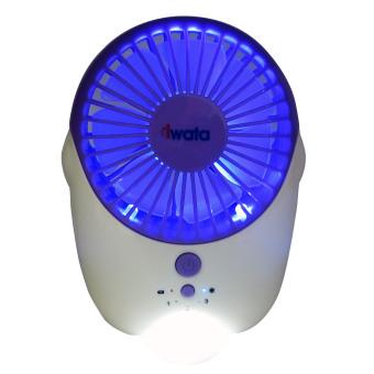 Iwata CM16RHF-08 Portable Rechargeable Fan (Purple) - 5