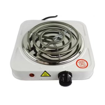 J&J 1000W Electric Cooker Single Hot Plate (White)