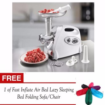J&J 2800W Electric Meat Grinder Kitchen Steel Sausage FillerMincer Vegetables Maker with FREE 1 of J&J Fast Inflate Air BedLazy Sleeping Bed Folding Sofa/Chair