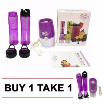 J&J Buy One Take One ShakeNTake3 Tumbler & Blender(Purple)