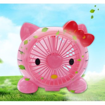 J&J Hello Kitty USB Portable Mini Fan (Pink)