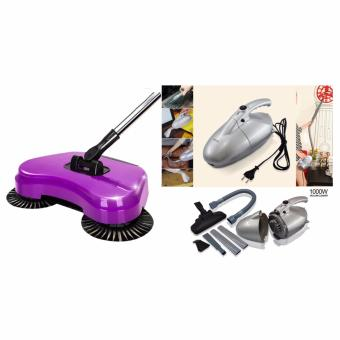 J&J JK-8 1000W Vacuum Cleaner Air Circular System (Silver) with360 Rotary Home Use Magic Manual Telescopic Floor Dust Sweeper