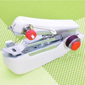 Jiayiqi DIY Manual Handheld Portable Mini Expert Sewing Machine Home Needlework Cordless (White) - intl - 3