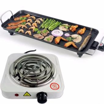 JNS-DKP1- (S) Electric Baking Grill Tray Economical And High-Efficiency With Hot Plate Electric Cooking Stove Single (White)