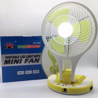 JR-5580 Portable LED Light with Mini Fan (random color) Price Philippines