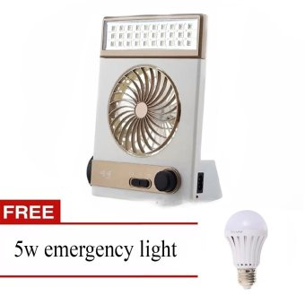 Jr-5591 Solar Light Fan with FREE 5W Emergency Light Price Philippines