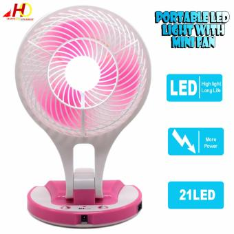 JR5580 Portable LED Light with Mini Fan JR-5580 (Pink) Price Philippines