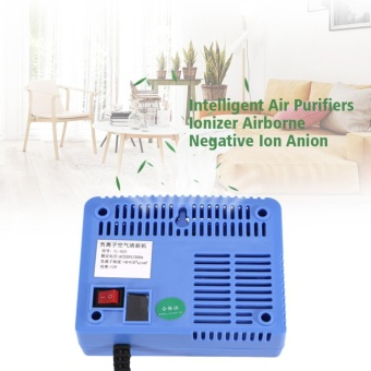 Justgogo AC220-240V Negative Ion Intelligent Air Purifiers Blue - intl