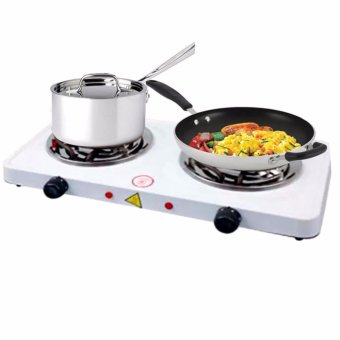 JX-2020B 2000W Double Burner Hot Plate Electric Cooking (White) Price Philippines