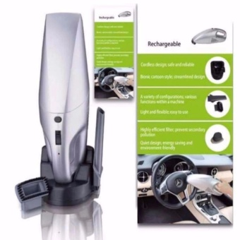 K&E Rechargeable Car Vacuum Cleaner (Silver) - 2