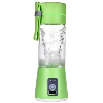 Keimav Rechargeable USB Electric Fruit and Vegetable Blender CupJuicer Extractor 380mL (Green)