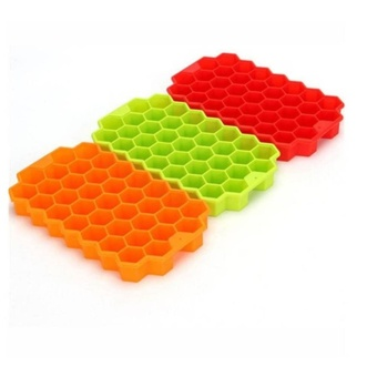 Kuhong Ice Cube Tray Honeycomb Ice Lattice Mold With Cover Frozen Ice Cream - intl
