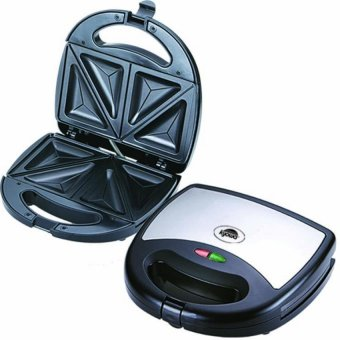 Kyowa KW-2606 Sandwich Toaster Non-Stick Plates With StainlessSteel Body Casing (Black)