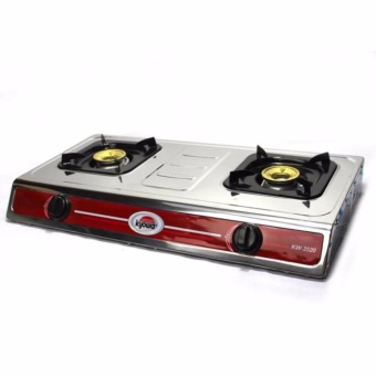 Kyowa KW3520 Double Burner Gas Stove (Silver)