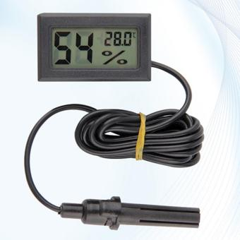 LCD Digital Thermometer Temperature Hygrometer Humidity Meter With Probe