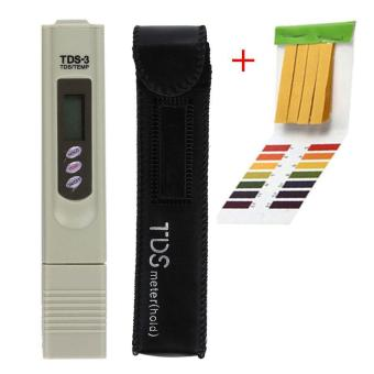 leegoal PH Test Papers 80pcs And TDS Tester Meter ,PH Test Strips Handheld Water Quality Tester Pen TDS Temperature Meter,with Leather Case,ABS,6x1.2x0.8 In - intl
